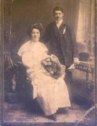 Alajos Béla Drexler & Onbekend (waarschijnlijk een tante van hem)